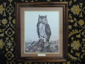 """R.J. McDonald signed, numbered, framed and double matted print """"The Judge"""""""