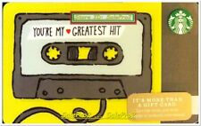 STARBUCKS COFFEE 2014 USA YOU'RE MY GREATEST HIT CASSETTE COLLECTIBLE GIFT CARD
