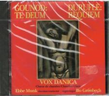Gounod: Te Deum; Durufle: Requiem / Ebbe Munk, Vox Danica - CD