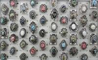 Wholesale Mixed 30pcs Vintage Abalone Resin Shell Rings Jewelry