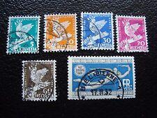 SUISSE - timbre yvert et tellier n° 254 a 259 obl (L1) (n° 259 pliure)