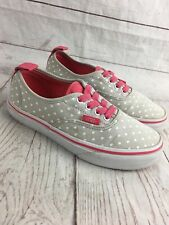 Vans Authentic Size US 2.5 Kids Micro Heart Skate Shoe Low Top Lace Up Slip On