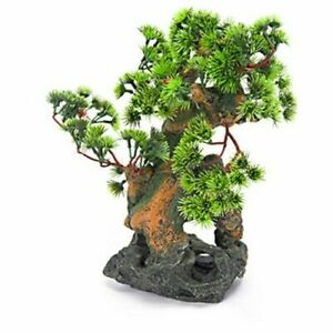 Bonsai Tree on Rocks  Aquarium Decoration