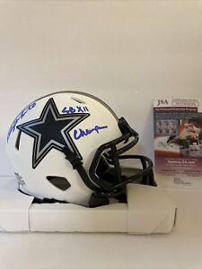 Danny White Signed Lunar Eclipse Mini Helmet JSA COA Dallas Cowboys SB XII Champ