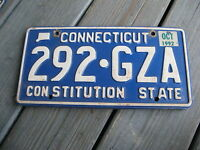 1992 92 CONNECTICUT CT CONSTITUTION STATE LICENSE PLATE NICE