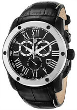 New Swiss Legend Traveler Chronograph Watch Black Leather SL-10005-BB-01-SB $595