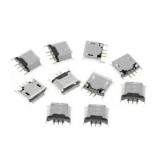10 Pcs Type B Micro USB Female Socket 180 Degree 5-Pin SMD SMT Soldering Jack