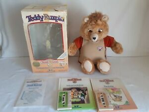 VINTAGE TEDDY RUXPIN 1985 CLEAN WORKS TAPES BOOKS AIRSHIP MUDLUPS TALKING TOY