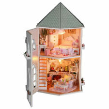 DIY LED Musik Puppenhaus Miniatur Holz Puppenstube Dollhaus 30 x 20 x 29 cm