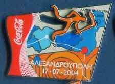 ATHENS 2004. OLYMPIC GAMES. SPONSOR PIN. COCA COLA. TORCH. ALEXANDROUPOLI 170704