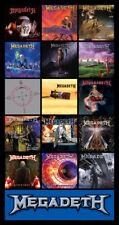 "MEGADETH album discography magnet (4.5"" x 3.5"")"