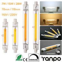 1X 10X 20X Dimmbares LED COB R7S Glasröhrenlicht 7W 12W 15W 25W 78mm 118mm 220V