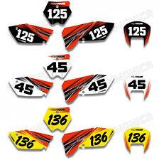 Custom Number Plate Graphic For KTM 65SX 525SX 125SX 50SX 250SX 380SX 400SX