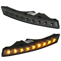 B6 LED Black smoked smoke front indicators turn lights repeaters Blinker signals