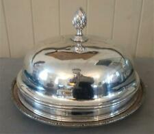 Fine Antique Sheffield Silver Plated 'Stag with Coronet' Armorial Crested Dome
