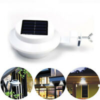 New 4 LED Solar Powered Gutter Light Outdoor/Garden/Yard/Wall/Fence/Pathway Lamp