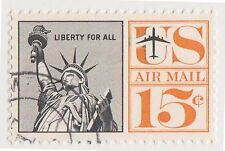 (UST-171) 1959 USA 15c statue of liberty air mail (L)