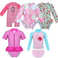 Baby Girls Bikini Set Swimwear Floral Ruffled Rash Guard Swimsuit Bathing Suit