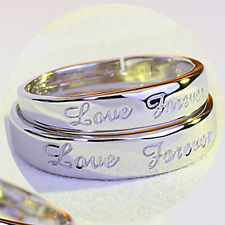 1Pair 925 Silver Plated Couples Promise His And Her Rings Wedding Ring Set Gift