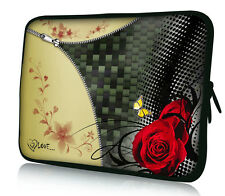 "Red Rose 17"" 17.3"" inch Laptop Netbook Bag Sleeve Case For HP Pavilion G7 DV7"