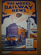 VINTAGE MODEL RAILWAY NEWS CLOCKWORK - STEAM - ELECTRIC No 134 FEBRUARY 1936