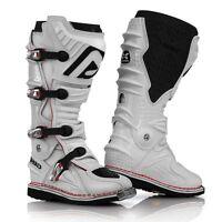 ACERBIS X MOVE 2.0 BOOTS WHITE HINGED MOTOCROSS MX ENDURO ATV QUAD CHEAP NEW
