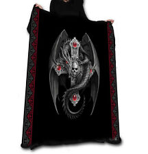 GOTHIC DRAGON Fleece Blanket / Throw 147cm x 147cm by ANNE STOKES
