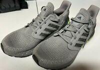 adidas Men's Ultraboost 20 Sneaker  Size 7.5 Grey/Black/Signal Green EG0705