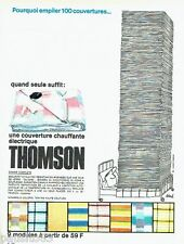 PUBLICITE ADVERTISING 116  1965  Thomson  couverture chauffante par Siné