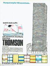 PUBLICITE ADVERTISING 116  1965  Thomson  couverture chauffante par Siné
