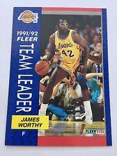 Fleer 1991/92 TEAM LEADER NBA Basketball Card James Worthy LA Lakers #384