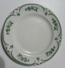 "Shenango Green Chardon Rose Rimrol Welroc 5 1/2"" Bread & Butter Plate Floral"