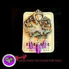 """""""JJ"""" Jonette Jewelry Silver Pewter 'ART NOUVEAU Woman w/Jewels Flowers' Pin"""
