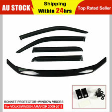 For VOLKSWAGEN VW Amarok 2010-2018 Bonnet Protector Guard and Weather Shields