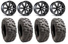 "MSA Black Kore 14"" UTV Wheels 32"" Roctane Tires Can-Am Maverick X3"
