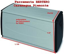 BAULE  BAULI DA GIARDINO TERRY PRINCEBLACK-120 120X54X57  INTERNI-ESTERNI 308 LT