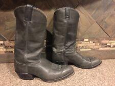 Mens Sz 9.5EE Tony Lama Style 6162 Gray Leather Cowboy Boots