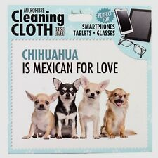 Chihuahua Microfibre Cleaning Cloth For Tablet Phone Glasses Dog Lovers Gift