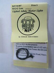 Tomar HO Scale Adlake Marker Lights Red-Green-Green BULBS H-807  Bob  Train Guy