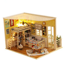 DIY Wooden House My Friend 3D Dollhouse With Furniture Kits Light Creative Gift
