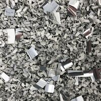 Grey + Silver Foil BIODEGRADABLE Tissue Paper WEDDING CONFETTI Flutterfall