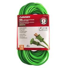 16 Cable Extension Cord Outdoor 100 ft Green Vinyl Power Wire Gauge Line Socket