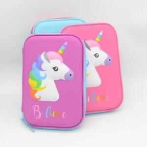 Unicorn Pencil Case Pen Case Pink Padded Pencil-case for Girls Back to School