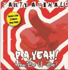 Party Animals-PA Yeah cd maxi single cardsleeve