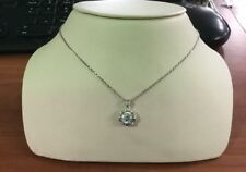 Tacori Silver & CZ Necklace And Floating Pendant 18""