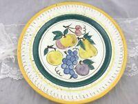 Vintage Stangl Terra Rose Hand Painted Fruit Serving Platter Chop Plate 14 in