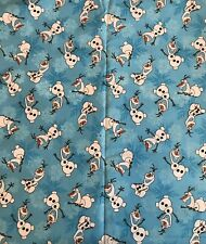 Disney Frozen Olaf Snowflakes cotton  Blue cartoon/film Elsa/Anna snowman