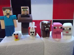 Minecraft Edible Cake Topper Decorations Farm Set