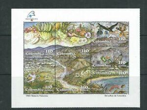 COLOMBIA 1989 PHILEX FRANCE '89 TROPICAL FRUIT souvenir sheet (Sc C805) VF MNH