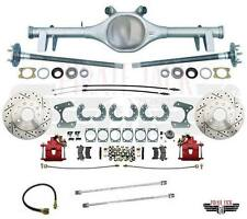 """64-66 GM A Body Chevelle Currie 9"""" Rear End Rear Disc Brake Kit Red Calipers X"""
